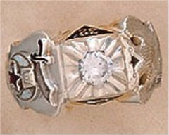 32ND DEGREE SCOTTISH RITE-SHRINE RINGS, Solid Back #1305