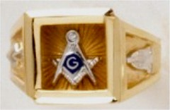 3rd Degree Masonic Ring 10KT OR 14KT, Open or Solid Back, White or Yellow Gold #620