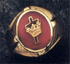 Knights Templar Rings 10K or 14K Gold, Open or Solid Back #1506