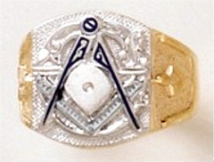 3rd Degree Masonic Ring 10KT OR 14KT, Open or Solid Back, White or Yellow Gold #606