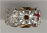 Knights Templar Ring 10K or 14K Gold, Open or Solid Back  #1513