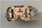 Knights Templar Rings 10K or 14K, Open or Solid Back #1509