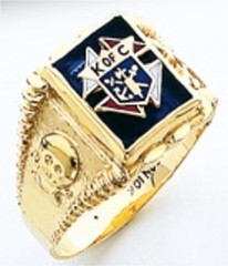 Knights of Columbus Rings,3rd Degree,Harvey & Otis,10KT or 14KT, Gold, Open or Solid Back  #301