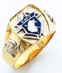 Knights of Columbus Rings,3rd Degree,Harvey & Otis,10KT or 14KT Gold, Open or Solid Back  #302
