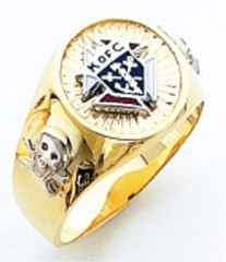 Knights of Columbus Rings,3rd Degree,Harvey & Otis,10KT or 14KT Gold, Solid Back  #303