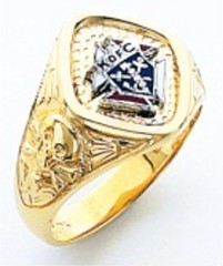 Knights of Columbus Rings,3rd Degree,Harvey & Otis,10KT or 14KT Gold, Open or Solid Back  #304