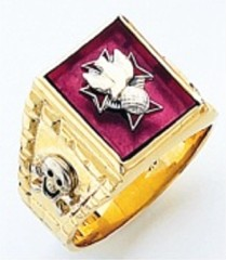 Knights of Columbus Rings,4th Degree,Harvey & Otis,10KT or 14KT Gold, Open or Solid Back  #307