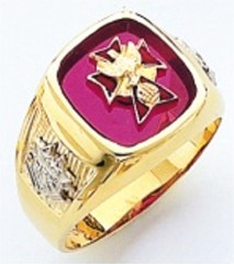 Knights of Columbus Rings,4th Degree,Harvey & Otis,10KT or 14KT Gold, Open or Solid Back  #308