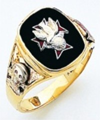 Knights of Columbus Rings,4th Degree,Harvey & Otis,10KT or 14KT Gold, Open or Solid Back  #309