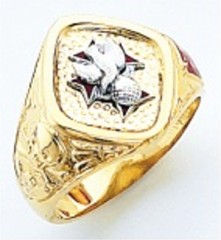 Knights of Columbus Rings,4th Degree,Harvey & Otis,10KT or 14KT Gold, Open or Solid Back  #311