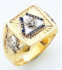 Knights of Columbus Rings, PGK, Harvey & Otis,10KT or 14KT Gold, Solid Back  #312