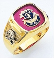 Knights of Columbus Rings,PGK,Harvey & Otis,10KT or 14KT Gold, Open or Solid Back  #313