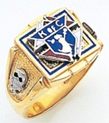Knights of Columbus Rings,3rd Degree,10KT or 14KT Gold, Solid Back  #317