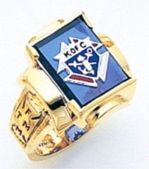 Knights of Columbus Rings,3rd Degree,10KT or 14KT Gold, Open Back  #320