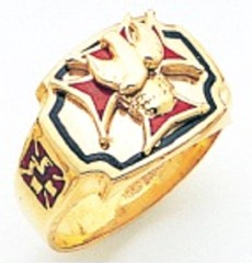 Knights of Columbus Rings,3rd Degree,10KT or 14KT Gold, Open Back  #321