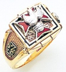 Knights of Columbus Rings,4th Degree,10KT or 14KT Gold, Solid Back  #322