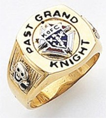 Knights of Columbus Rings, Past Grand Knight, Harvey & Otis 10K or 14K Gold, Open or Solid Back  #29
