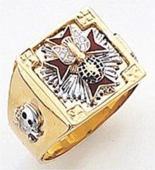 Knights of Columbus Rings,4th Degree,Harvey & Otis,10KT or 14KT Gold,  Solid Back  #30