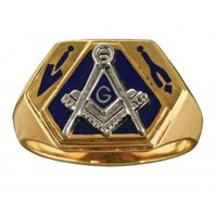 3rd Degree Blue Lodge Ring, Open or Solid, 10K or 14K, #312a