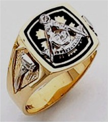 Masonic Past Master Rings 10KT or 14KT YELLOW OR WHITE Gold, Solid Back #1043