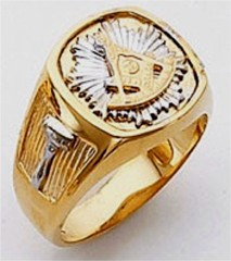 Masonic Past Master Rings 10KT or 14KT YELLOW OR WHITE Gold, Open or Solid Back #1045