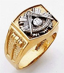 Masonic Past Master Rings 10KT or 14KT YELLOW OR WHITE Gold, Open or Solid Back #1044