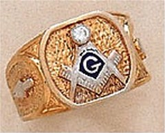 3rd Degree Masonic Blue Lodge Ring 10KT or 14KT Gold, Hollow Back #304