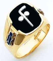 3rd Degree Masonic Blue Lodge Ring 10KT OR 14KT,  Solid Back, White or Yellow Gold, #200b