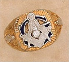 3rd Degree Masonic Blue Lodge Ring 10KT or 14KT Gold, Solid Back  #316