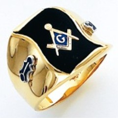 3rd Degree Masonic Blue Lodge Ring 10KT OR 14KT, Open or Solid Back, White or Yellow Gold, #209b