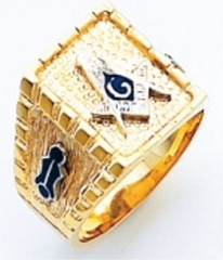 3rd Degree Masonic Blue Lodge Ring 10KT OR 14KT, Open or Solid Back, White or Yellow Gold,#213b