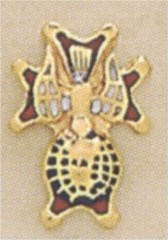 KNIGHTS OF COLUMBUS LAPEL PINS, 4TH DEGREE 10KT   6