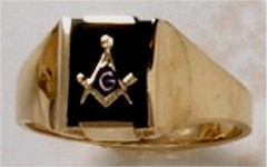 3rd Degree Blue Lodge Masonic Ring 10KT or 14KT Yellow or White Gold, Open or Solid Back #523