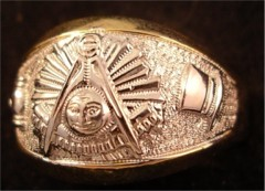 Masonic Past Master Rings 10KT or 14KT YELLOW OR WHITE Gold, Open or Solid Back #1029