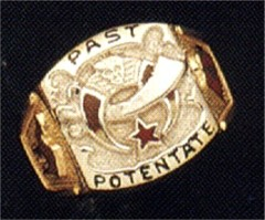 PAST POTENTATE Shrine Rings 10KT or 14KT Open or Solid Back #15a