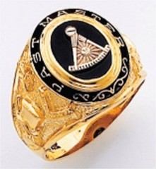 Masonic Past Master Rings 10KT or 14KT YELLOW OR WHITE Gold, Open or Solid Back #1047