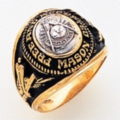 Masonic Past Master Rings 10KT or 14KT YELLOW  Gold, Open Back #1048