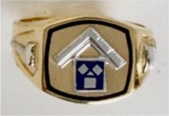 Masonic Past Master Ring of Pennsylvania 10KT or 14KT YELLOW OR WHITE  Gold, Solid Back #1020