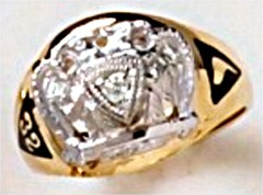 Scottish Rite Rings 10KT or 14KT Open Back  #1123