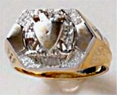 Scottish Rite Rings,14KT Open Back  #1126
