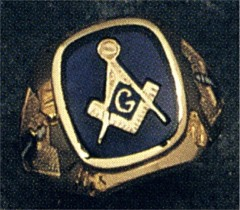 3rd Degree Blue Lodge Masonic Ring 10KT or 14KT YELLOW OR WHITE Gold, Open or Solid Back #412