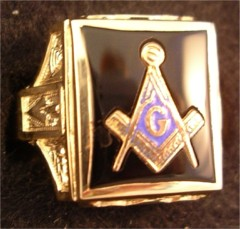 3rd Degree Blue Lodge Masonic Ring 10KT OR 14KT Yellow or White Gold, Open or Solid Back #505