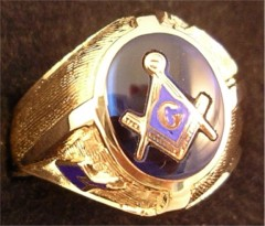 3rd Degree Blue Lodge Masonic Ring 10KT or 14KT YELLOW OR WHITE Gold, Open or Solid Back #402