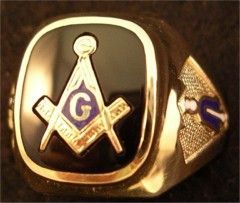 3rd Degree Blue Lodge Masonic Ring 10KT or 14KT YELLOW OR WHITE Gold, Open or Solid Back #424a