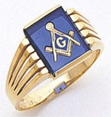 3rd Degree Masonic Blue Lodge Ring 10KT OR 14KT, Open Back, White or Yellow Gold, #125b