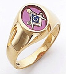 3rd Degree Masonic Blue Lodge Ring 10KT OR 14KT Open Back, White or Yellow Gold, #126b