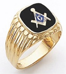 3rd Degree Masonic Blue Lodge Ring 10KT OR 14KT, Open Back, White or Yellow Gold, #128b