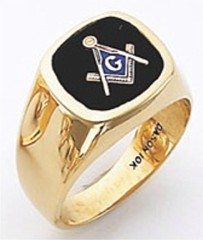 3rd Degree Masonic Blue Lodge Ring 10KT OR 14KT, Solid Back, White or Yellow Gold, #130b