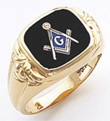 3rd Degree Masonic Blue Lodge Ring 10KT OR 14KT, Open or Solid Back, White or Yellow Gold, #131b