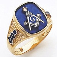 3rd Degree Masonic Blue Lodge Ring 10KT OR 14KT, Open or Solid Back, White or Yellow Gold, #132b